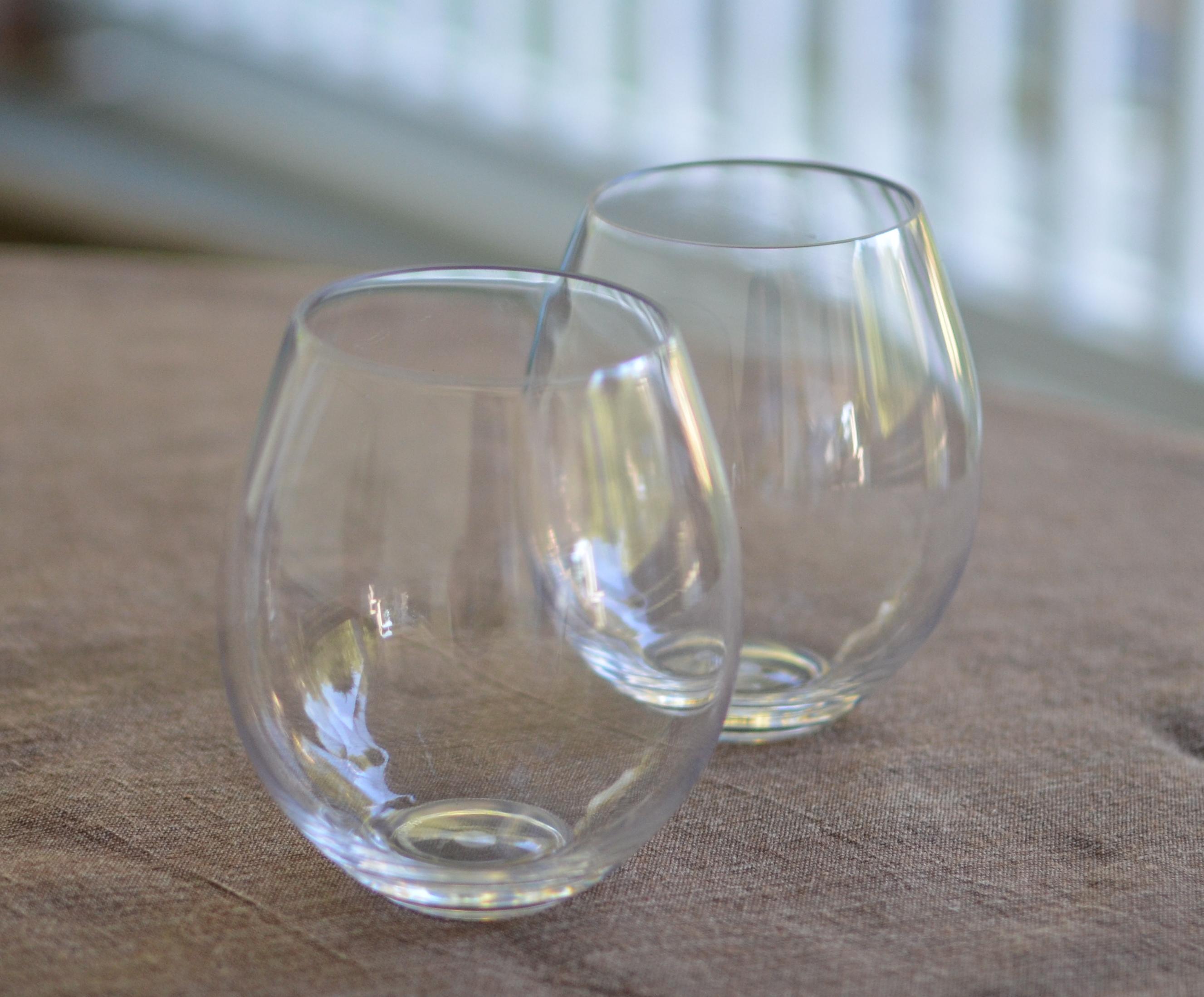 Stemless wine glass bulk